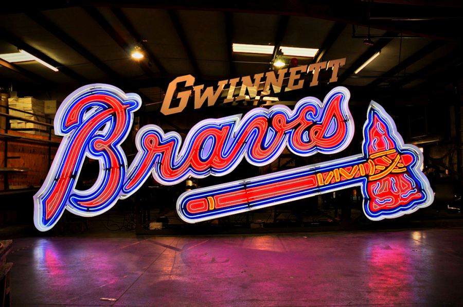 Gwinnett Braves Neon Sign